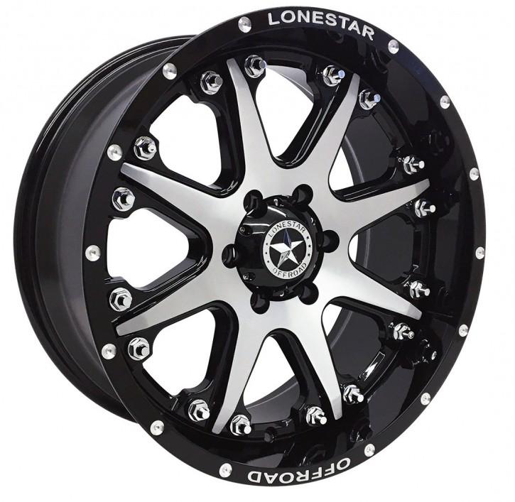 "LS Wheel LS502 9x20"" ET13 Bandit schwarz / silber C/K1500"