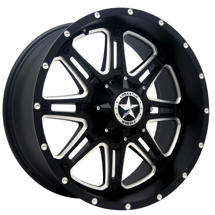 "LS Wheel LS392 9x20"" ET13 Outlaw schwarz matt C/K 1500"