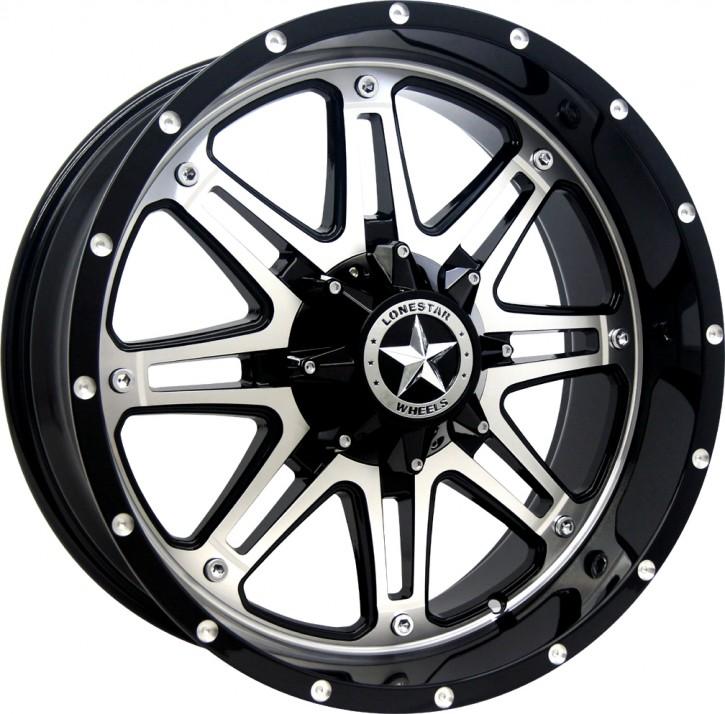 """LS Wheel LS392 9x20"""" ET13 Outlaw schwarz / silber C/K 1500"""