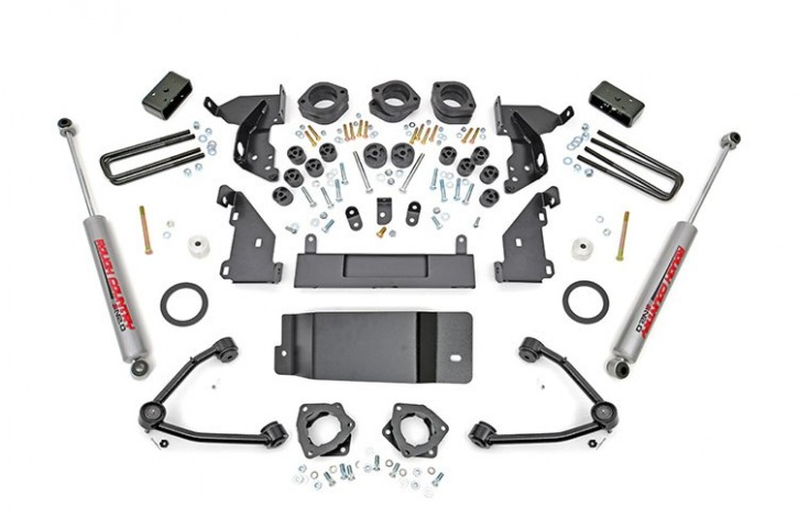 """4.75"""" GM Combo Lift Kit (w/Upper Control Arms) -4WD- Bj. 14-15"""